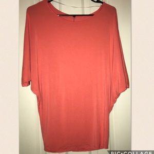 Beautiful dolman style sleeve coral shirt